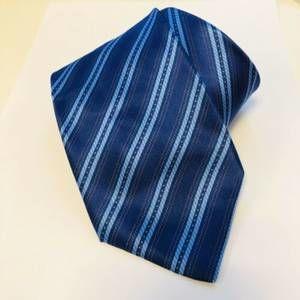 Stefano Ricci Blue Striped Silk Neck Tie Italian